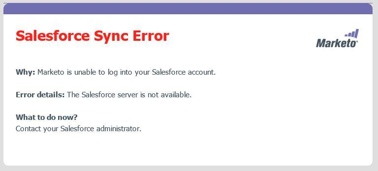 The Salesforce to Marketo sync