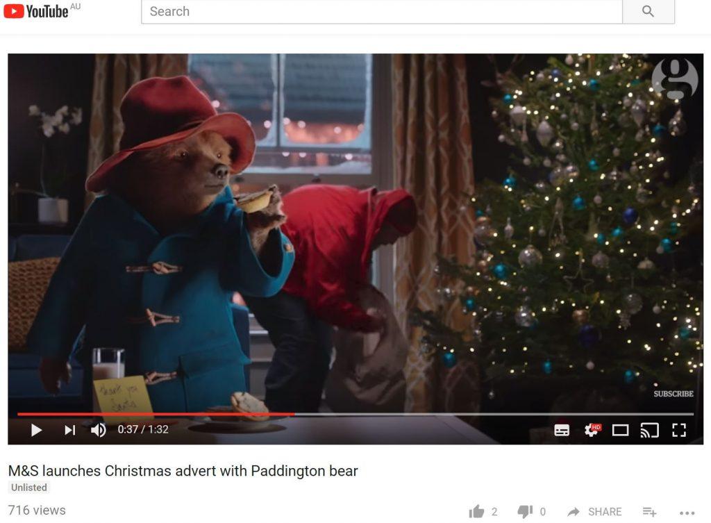 Paddington Bear and M&S Christmas TVC 2017
